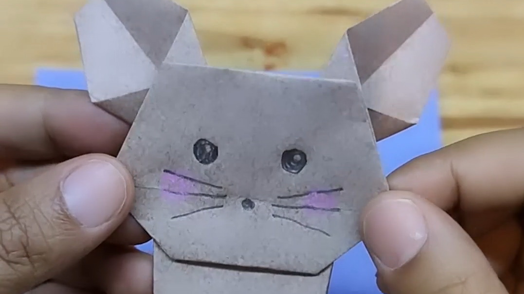 立立坨折纸教程-小老鼠